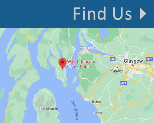 Find  W and J Duncan Garage in Rothesay, Isle of Bute, Scotland